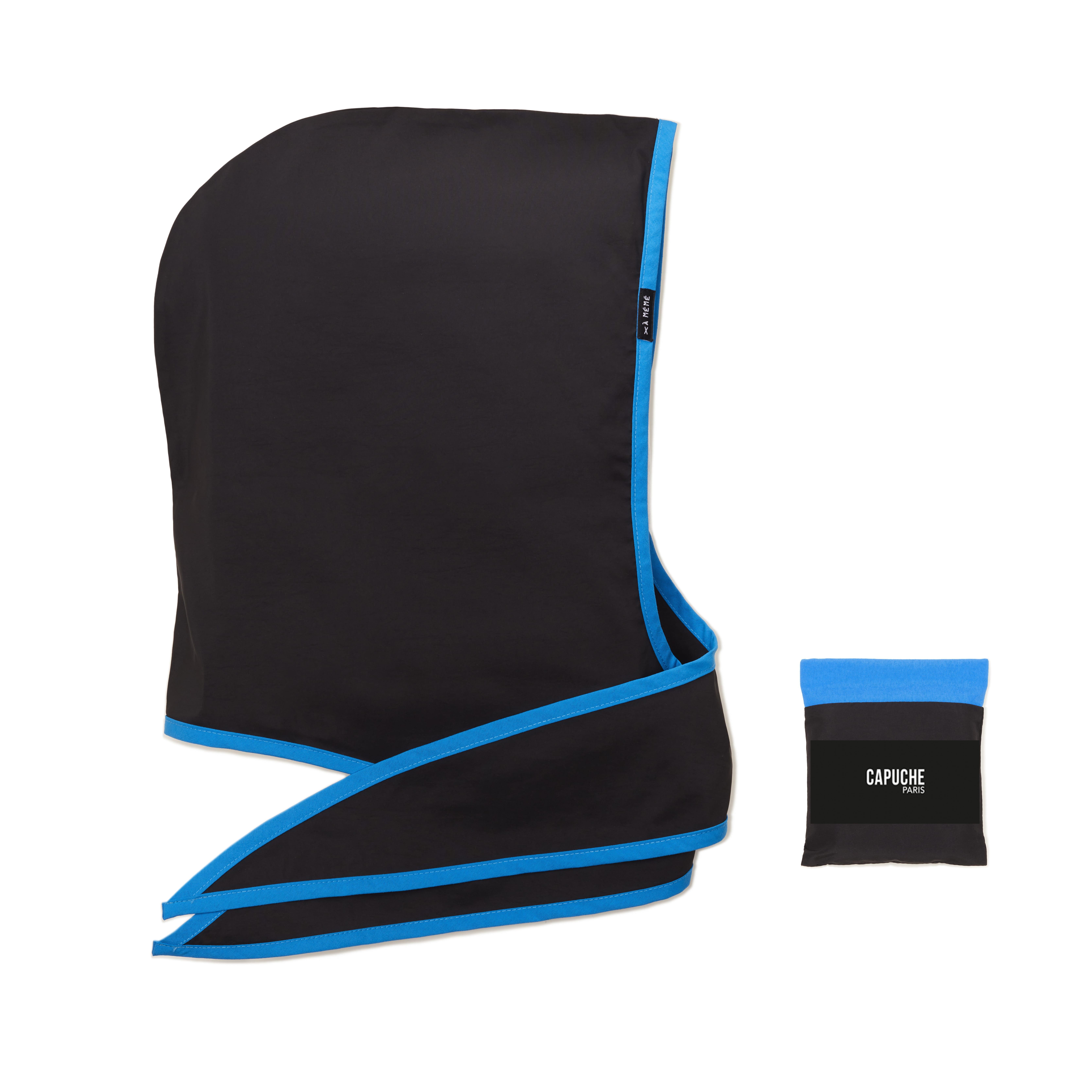 Capuche Paris - Black Blue Rain Hood