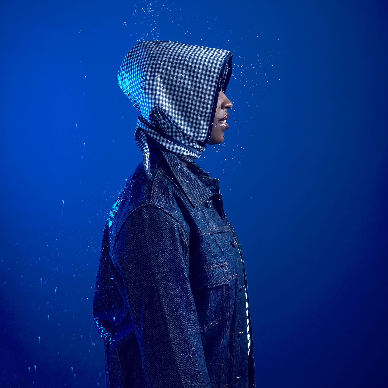 Capuche Paris - Gingham Check Rain Hood