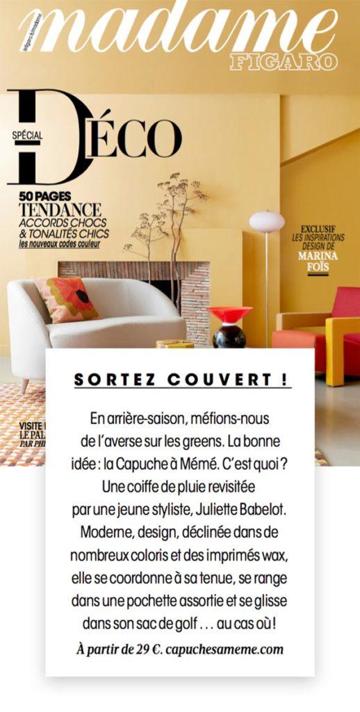 Capuche Paris - Madame Figaro Déco